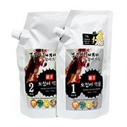 검은머리 파뿌리 칼라 크림 500g - 한방 오징어먹물 염색